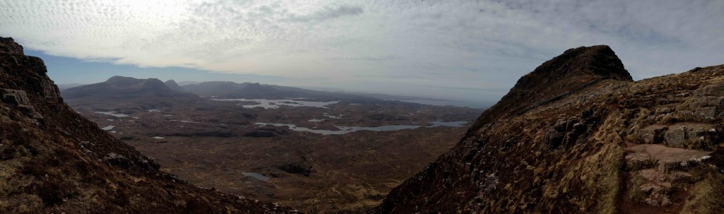 View from the middle of Suilven's two summits