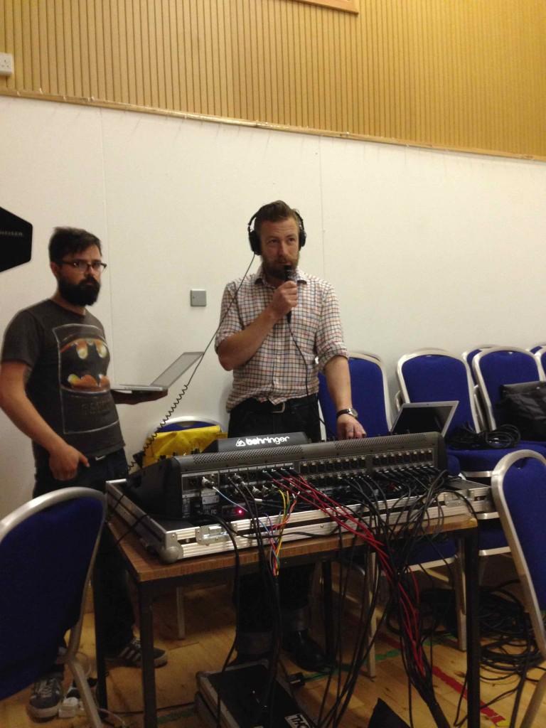 Iain Thomson and Tim Mathews sorting the sound-07-16 11.18.14