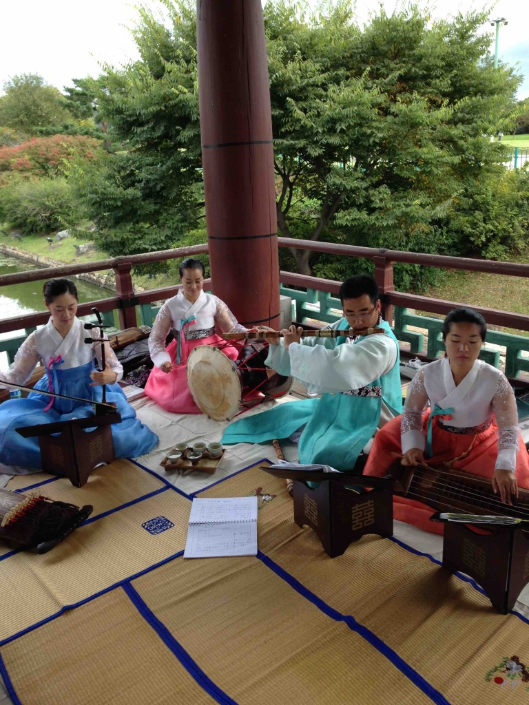 Traditional South Korean band