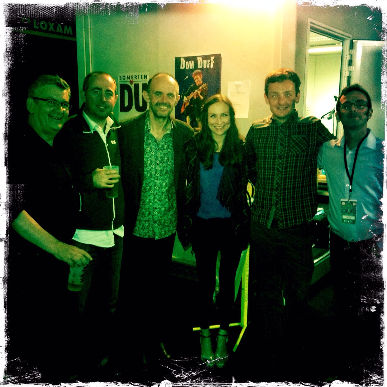 Julie Fowlis band after the Lorient gig