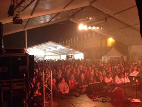 Crowd before we went on at Lorient