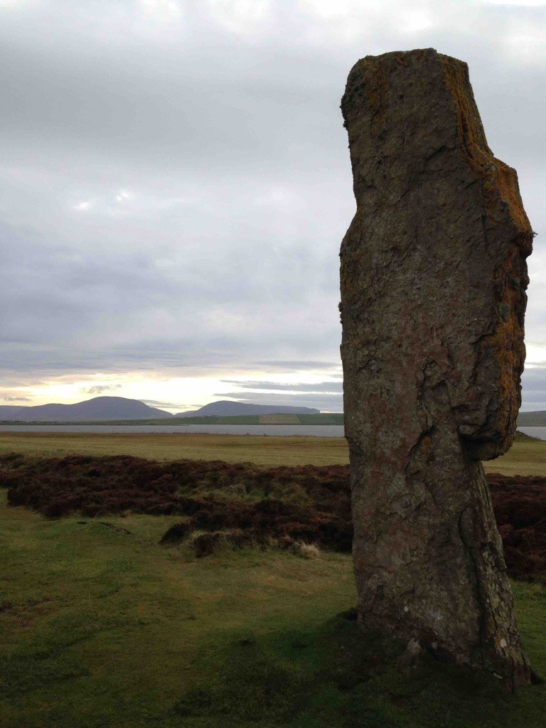 Standing stone in Orkney